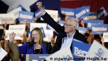 USA San Antonio Jane und Bernie Sanders
