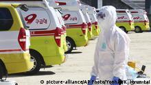 Südkorea Daegu Moon Jae-in verhängt höchste Alarmstufe wegen Coronavirus