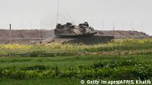 Isreal Panzer an der Grenze zum Gazastreifen