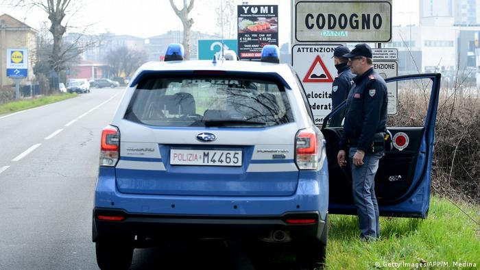 Codogno: punkt kontroli policyjnej
