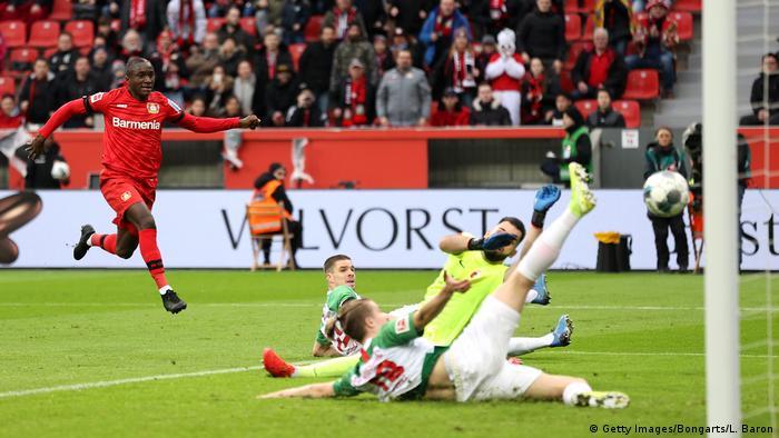 Fußball Bundesliga   Bayer Leverkusen vs FC Augsburg   Moussa Diaby (Getty Images/Bongarts/L. Baron)