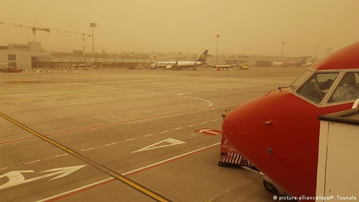 Spanien Sahara Sandstürme auf den Kanarischen Inseln