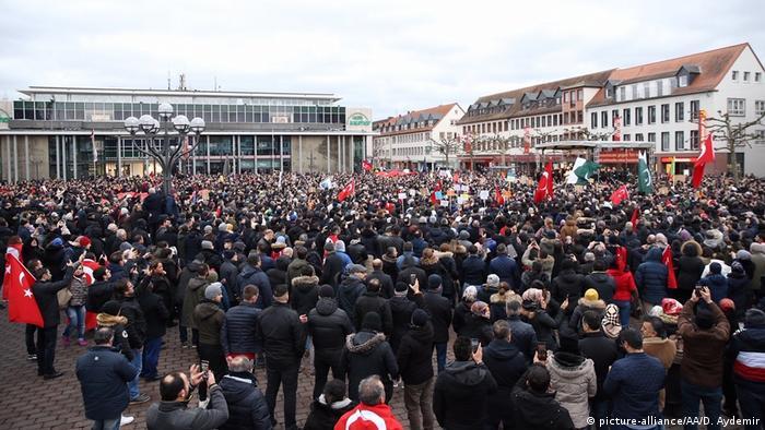 Deutschland Proteste nach Anschlag in Hanau