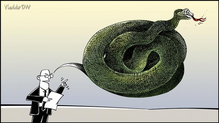 Discurso de ódio visto para a DW pelo caricaturista Vladdo