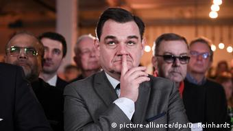 Κατηφής παρακολουθεί τα αποτελέσματα ο υποψήφιος της CDU Μάρκους Βάινμπεργκ