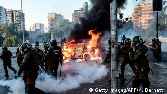 Las protestas no han cesado en Chile desde octubre de 2019.
