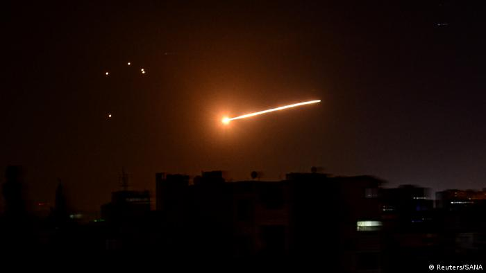 Licht am Himmel von Damaskus