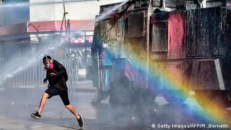 Chile: Ausschreitungen während Vina del Mar Music Festivals (Getty Images/AFP/M. Bernetti)