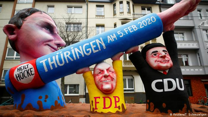 A giant figurine of AfD Thuringia leader Björn Höcke (Reuters/T. Schmuelgen)