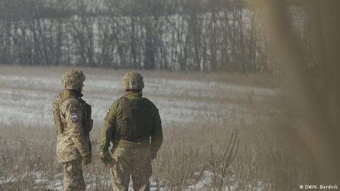 Контрольный пункт въезда-выезда Гнутово на юге Донбасса