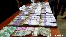 Bangladesch Dhaka | Durch die Spezialeinehit RAB konfisziertes Geld aus illegalen Geschäften