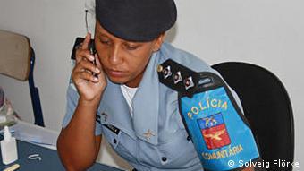 Captain Pricilla in ihrem Büro in Santa Marta (Foto: Solveig Flörke)