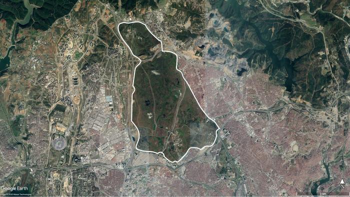 Karte Istanbul Esenler Militärgebiet