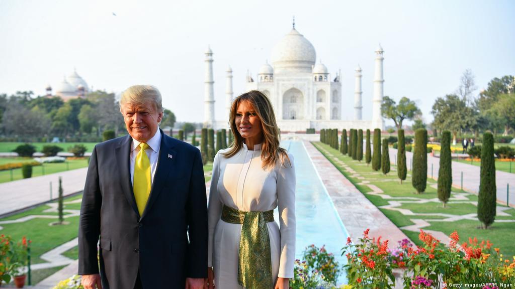 Trump En La India Le Compran Millones En Armas Y Limpian El Taj Mahal Con Millones De Litros De Agua Destilada El Mundo Dw 25 02 2020