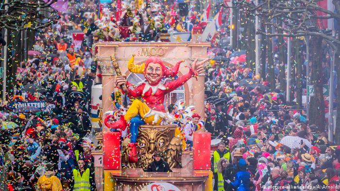 Germany's Rosenmontag parades see politicians lampooned, racism scorned