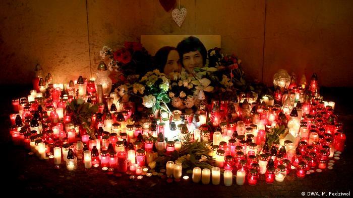 Slowakei Demonstrationen zum 2. Jahrestag Ermordung von Jan Kuciak und Martina Kusnirova (DW/A. M. Pedziwol)