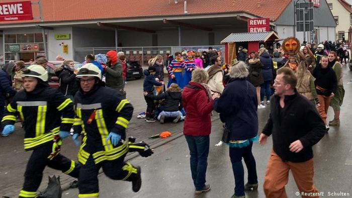 Car crashes into Carnival parade in German town of Volkmarsen, multiple people injured