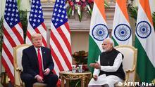 Indien Staatsbesuch von Donald Trump in Neu Dehli