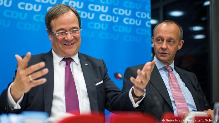 Deutschland Düsseldorf Armin Laschet und Friedrich Merz
