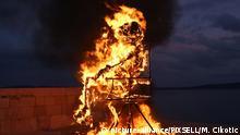 Kroatien Karneval Krnjo Verbrennung