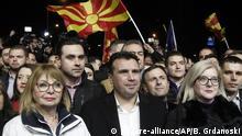 Nord-Mazedonien, Skopje: Protest der VMRO-DPMNE