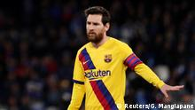 UEFA Champions League | SSC Neapel - FC Barcelona | Lionel Messi