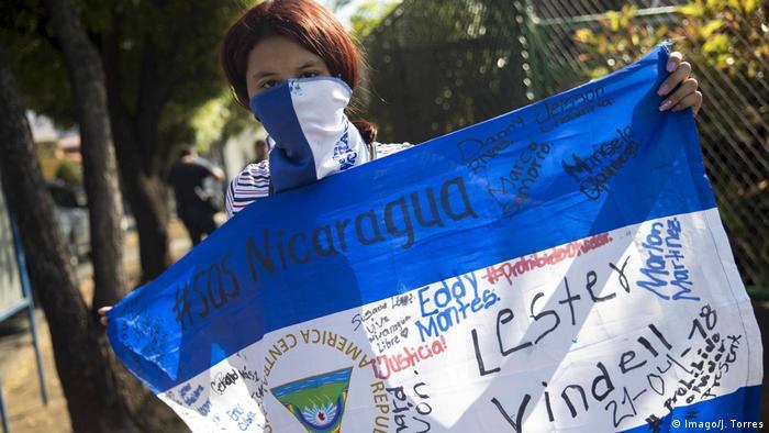 Protestas en Nicaragua contra la represión del gobierno de Daniel Ortega. (Febrero de 2020).