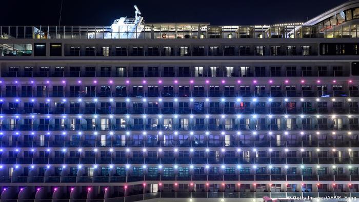Coronavirus: Kreuzfahrtschiff The World Dream in Hongkong