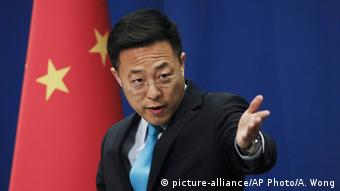 China Peking Neuer Außenministeriumssprecher Zhao Lijian (picture-alliance/AP Photo/A. Wong)
