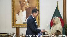 Bangladesch Dhaka Bundesentwicklungsminister Gerd Müller besucht Sheikh Hasina