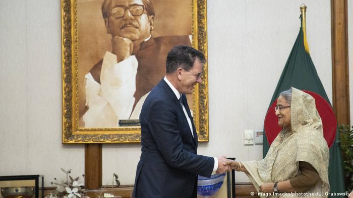 Bangladesch Dhaka Bundesentwicklungsminister Gerd Müller besucht Sheikh Hasina (Foto: Imago Images/photothek/U. Grabowsky)