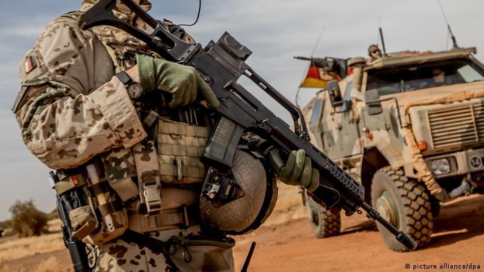 A Bundeswehr soldier in Mali