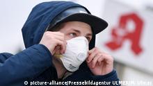 Deutschland Symbolbild Schutzmaske für Coronavirus