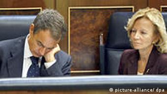 Symbolbild Spanien Finanzkrise Zapatero