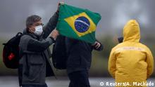 09.02.2020 FILE PHOTO: Brazilian citizens from China's coronavirus-struck Wuhan, arrive at the Air Force base of Anapolis, State of Goias, Brazil, February 9, 2020. REUTERS/Adriano Machado/File Photo
