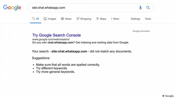 Screenshot of Google showing that search results have been removed