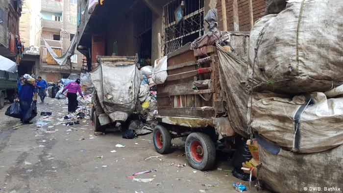 Pickup truck inside Cairo's Garbage City