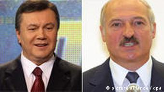 Президенты Украины и Беларуси Янукович и Лукашенко