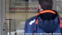 Deutschland Düsseldorf | Uni-Klinik Infektionsstation | Thema Coronavirus