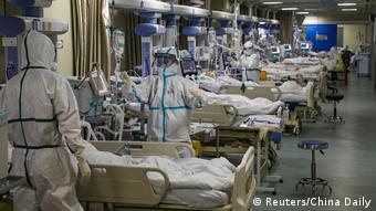 Палаты интенсивной терапии для больных COVID-19 в Ухане