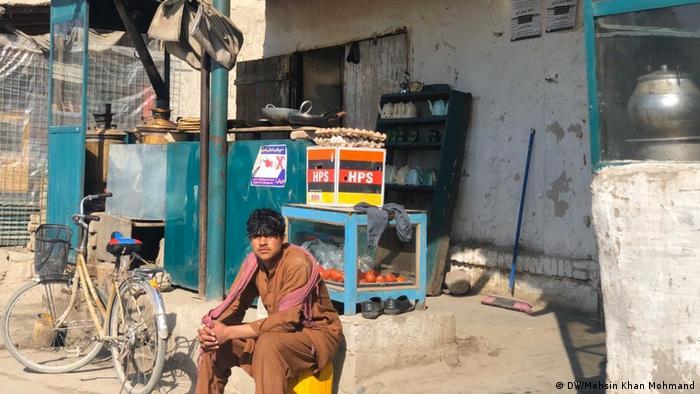 A young man at the Khogyani market
