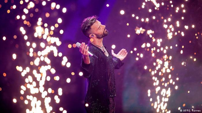 Ricky Martin en su presentación del Festival de Viña 2020.