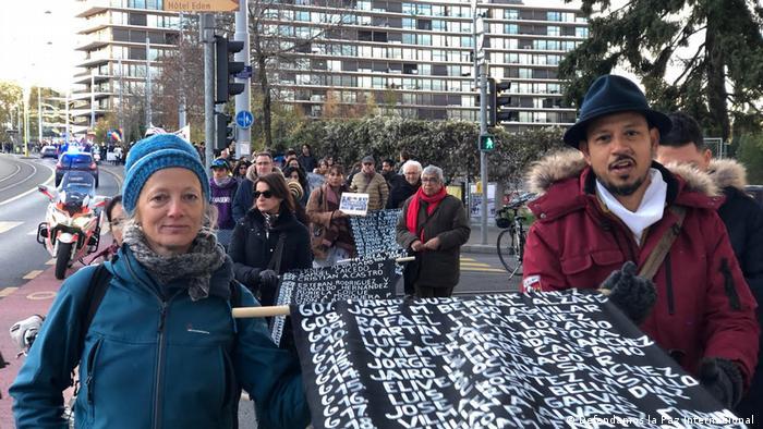 Kolumbien   Demonstration in Ginebra für die Friedensprozess