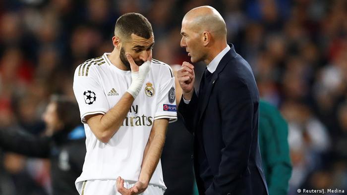 UEFA Champions League | Real Madrid - Manchester City | Benzema & Zidane (Reuters/J. Medina)
