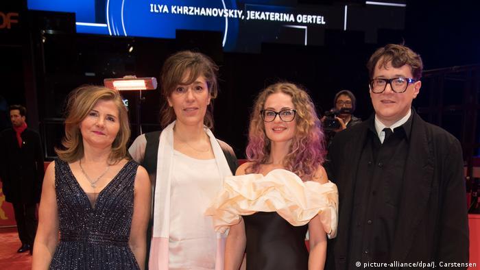 On the red carpet: Natalia Berezhnaya, co-director Jekaterina Oertel, Olga Shkabarnya and Ilya Khrzhanovsky