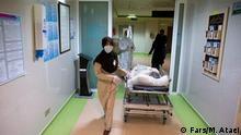 Corona Infizierte in eine iranischen Krankenhaus. Quelle: FARS Lizenz: Frei