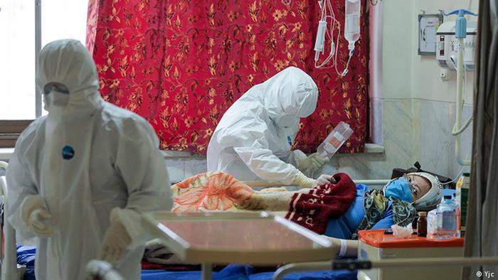 Iran Corona-Kranke im Krankenhaus (Yjc)