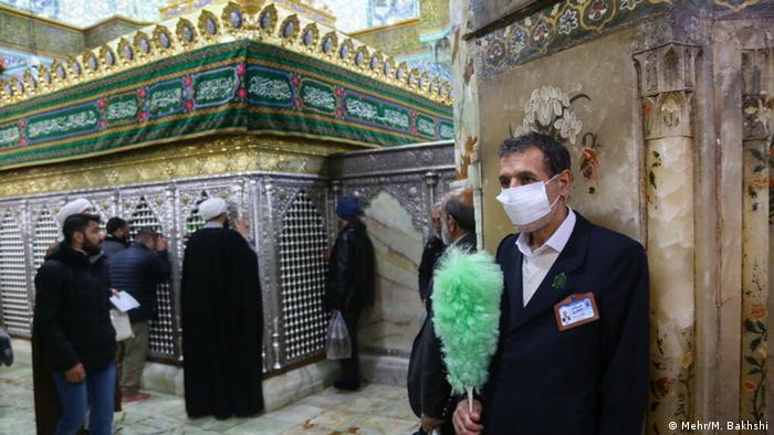 Iran Ghom heiliger Schrein vor Schließung wegen Coronavirus (Mehr/M. Bakhshi)