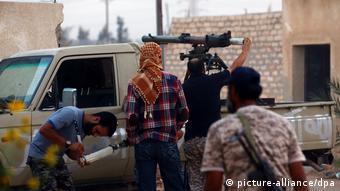 Foto de rebeldes libios