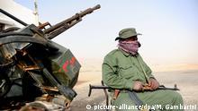 Libyen Freischärler mit Waffen